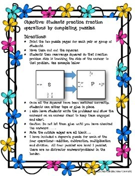 Fraction Operations Puzzle