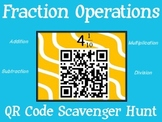 Fraction Operations QR Code Scavenger Hunt