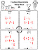 Fraction Operations Relay Race