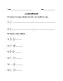 Fraction Operations Review