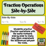 Fraction Operations - Review - Activities - Middle School