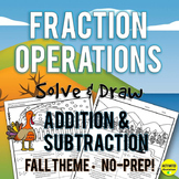 Fall Theme Adding and Subtracting Fractions