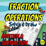 Fraction Addition & Subtraction Color By Answer