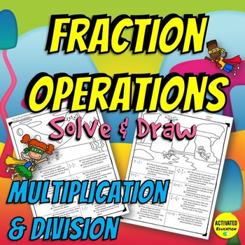 Fraction Multiplication & Division Color by Answer