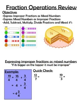 Fraction Operations - Review Packet