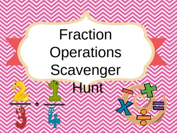 Fraction Operations Review Scavenger Hunt