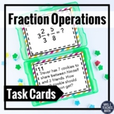 Fraction Operations Review Task Cards 5.NF