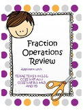 Fraction Operations Review Task Cards/Scoot - TEK 5.3 and CCSS 5.NF.A,B...