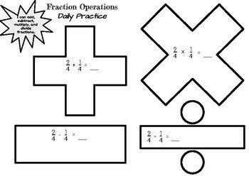 Fraction Operations Review and Practice