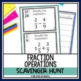 Fraction Operations: Scavenger Hunt