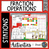 Fraction Operations Math Stations