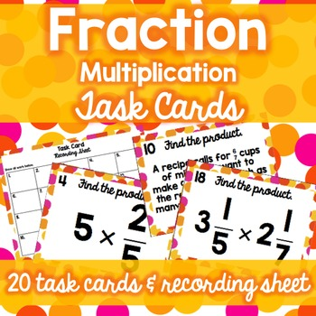 Fraction Operations Task Card Bundle (Add/Subtract/Multiply/Divide)