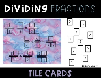 Fraction Operations Tile Cards BUNDLE