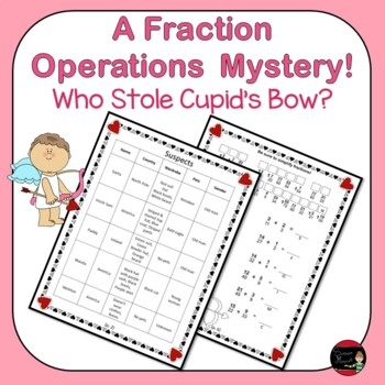 Fraction Operations Valentine Mystery