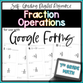 Fraction Operations- for use with Google Forms