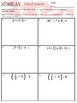 Fraction & Ordered Pair Review 5.OA.1, 5.OA.2, 5.MD.2, 5.NF.3 & 5.NF.7