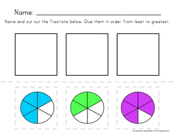 Fraction Ordering Activity