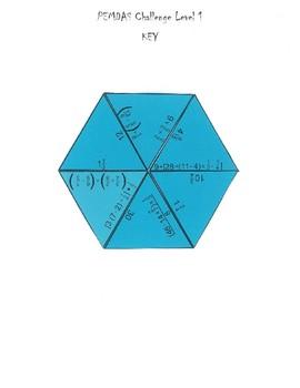 Fraction PEMDAS Triangle Challenge