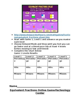 Fraction Packet for 4NF1 and 4NF2