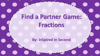 Fraction Partner Game (Equal Parts)