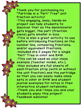 3rd Grade Fractions - Engaging Activity