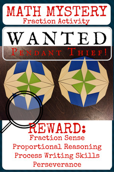 Fraction Pattern Block MYSTERY Activity: The Stolen Pendant!