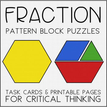 graphic regarding Printable Pattern Blocks known as Portion Practice Block Puzzles - Process Playing cards Printables for Necessary Wondering
