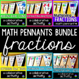 Fractions Math Pennants Bundle