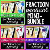 Fractions Math Pennants mini-bundle