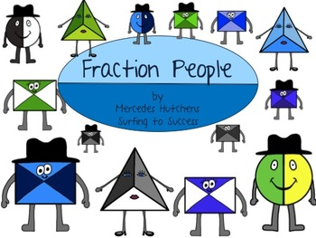 Fraction People Clipart