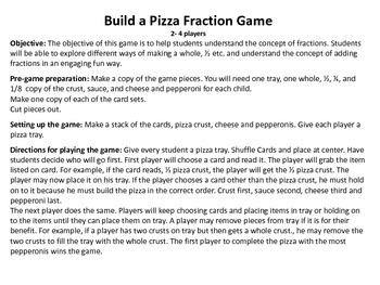 Fraction Pepperoni Pizza Game