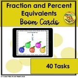 Fraction Percent Equivalents Boom Cards - Distance Learning