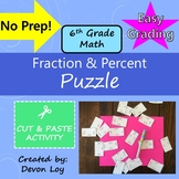 Fraction and Percent: Cut and Paste Puzzle