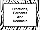 Fraction, Percent and Decimal Conversion Wall Hangings