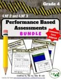 Fraction Performance Tasks BUNDLE - 4.NF.2 and 4.NF.3
