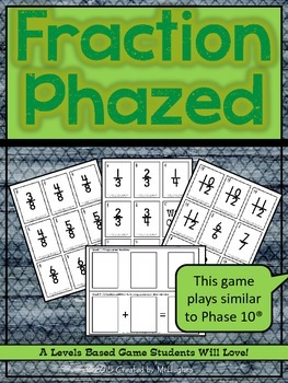 Fraction Phazed {Operations with Fractions Game}