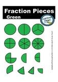 Fraction Pieces Clip Art - Green