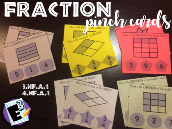 Fraction Pinch Cards