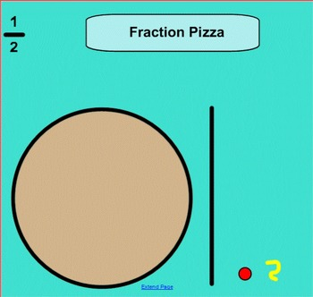 Fraction Pizza 1/2 1/4