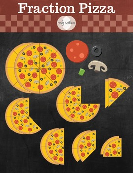 Fraction Pizza Clip Art_CarlyCreations