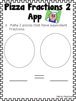 Fraction Pizza Apps and Accountability Activity Sheets