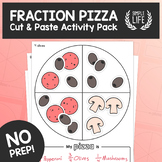 Fraction Pizza – Beginner Fractions Activity – Cut & Paste Math Pack
