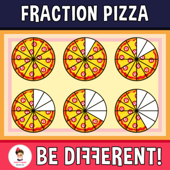 Fraction Pizza Clipart