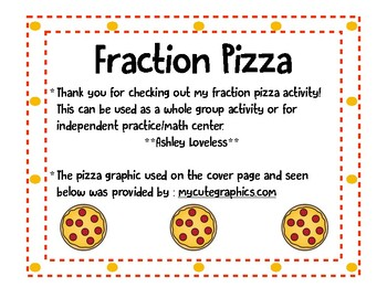 Fraction Pizza (Halves and Fourths)