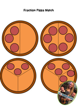 Fraction Pizza Matching Card Game