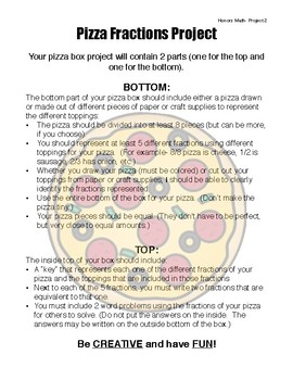 Fraction Pizza Project PDF