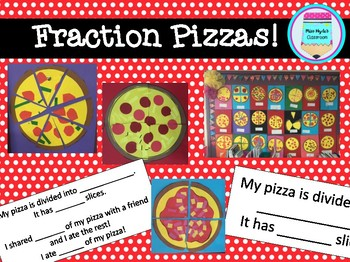 Fraction Pizza craft activity