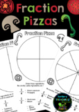 Fraction Pizzas- Halves, quarters and eighths.