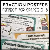 Fraction Poster Pack (Grades 3-5)