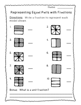 Fraction Posters and Practice